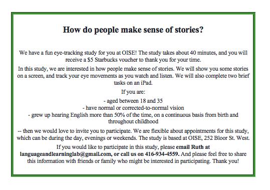 Stories Study