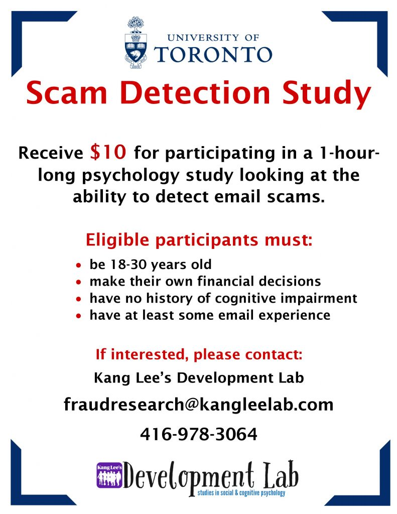 Scam Detection Study