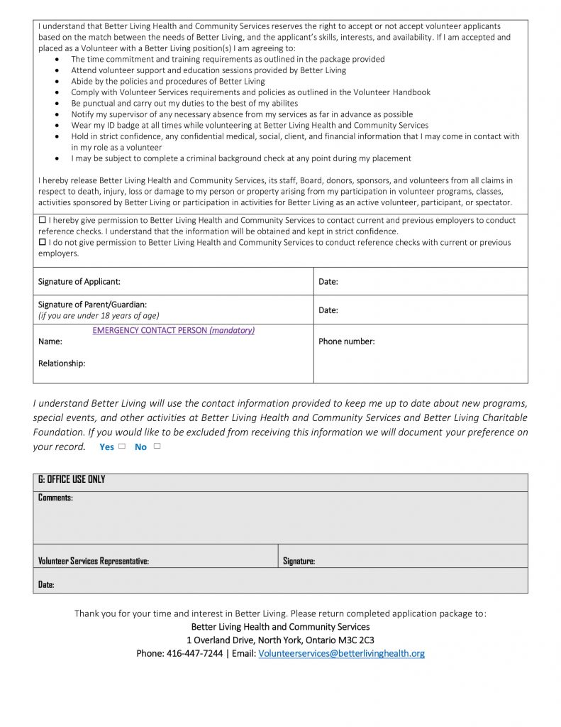 Better Living Applicaton Form-3
