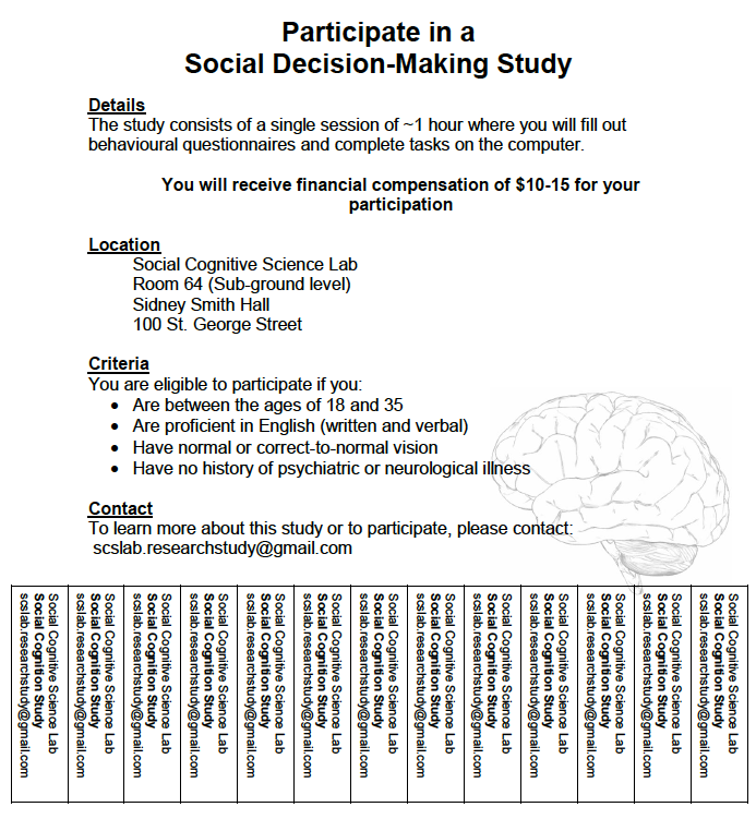 Social Decision Making Study